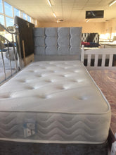 Crushed velvet bed | memory ortho divan set with diamante buttoned headboard-bedsteads-bedsmart