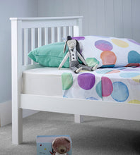 Grace white single bed frame | modern stylish shaker style solo bed-bedsteads-bedsmart