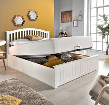 Mason white wooden ottoman bed-bedsteads-bedsmart