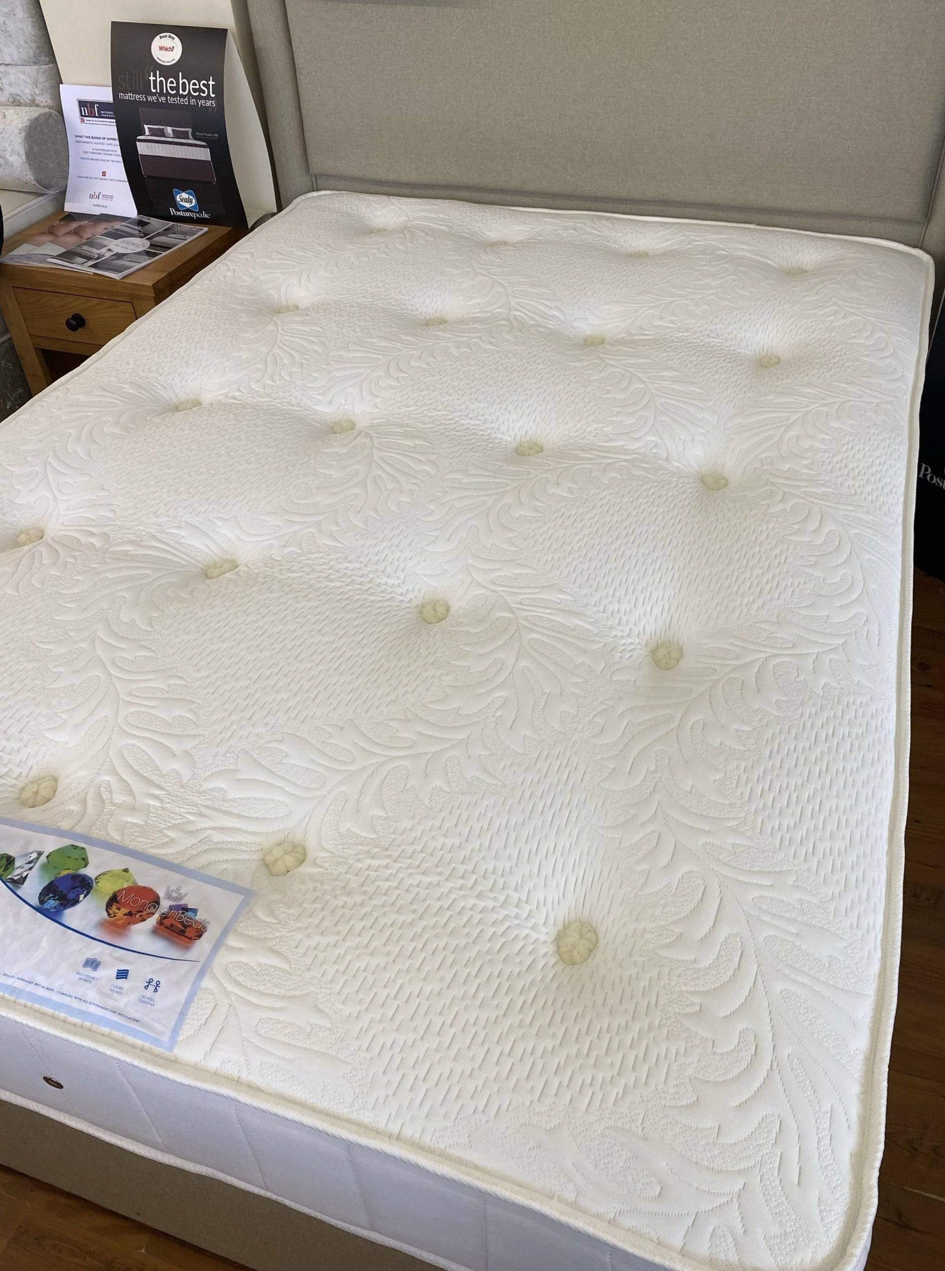 Opal 1000 pocket sprung mattress-bedsmart