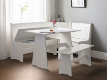 White corner dining set with storage-Furniture-bedsmart