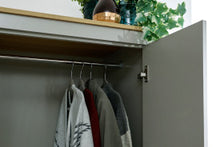 Grey and Oak combination wardrobe | 3 door 2 drawer wardrobe-Furniture-bedsmart