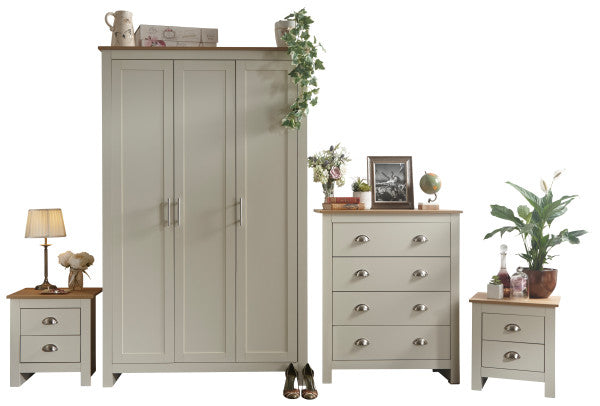 Cream and Oak bedroom furniture set | Lancaster 4 piece bedroom range