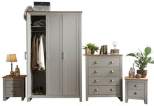 Grey and Oak bedroom furniture set | Lancaster 4 piece bedroom range-Furniture-bedsmart