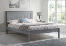 Limelight Grey wooden double bed frame with low foot end-bedsteads-bedsmart