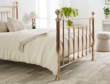 Classic metal bed frame in luxurious rose gold finish - bedsmart
