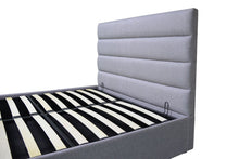 Light grey double Chester ottoman bed-bedsteads-bedsmart