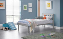 Dove grey wooden single bed frame-bedsteads-bedsmart