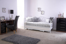 Madison white metal day bed and trundle set