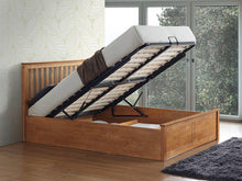 Miami oak wooden ottoman bed-bedsteads-bedsmart