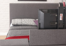 Miami TV bed | New grey fabric TV bed