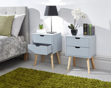 Coloured Scandinavian bed side tables | 4 different colour choices - bedsmart
