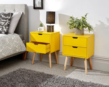 Scandinavian bed side table | Nyborg 2 drawer bedsides