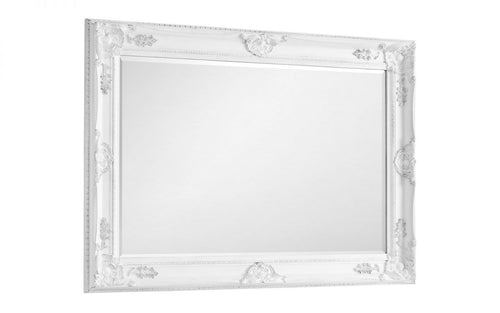White antique wall mirror | Palais white wall mirror - bedsmart