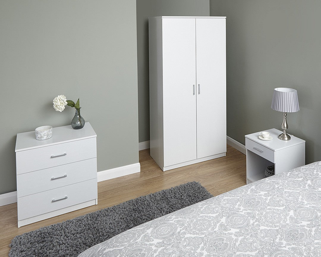 White three piece bedroom set