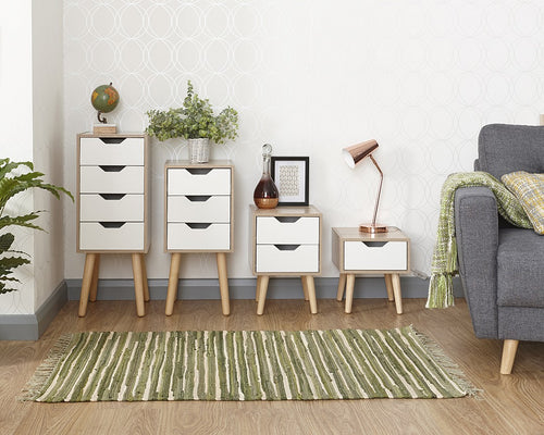 Stockholm furniture range | Scandinavian white and oak effect furniture - bedsmart
