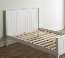 Limelight Grey wooden double bed frame with high foot end-bedsteads-bedsmart