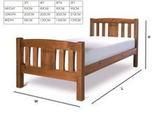 Limelight Sedna honey pine bed frame-bedsteads-bedsmart