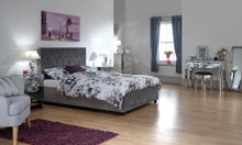 Dorado grey ottoman bed frame | Double or Kingsize storage bed