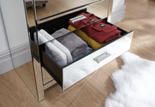Mirrored chest of drawers | Venetian mirrored 4 drawer cabinet - bedsmart