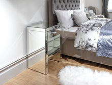 Stunning Venetian bedside table | Luxury mirrored bed side cabinet-Furniture-bedsmart