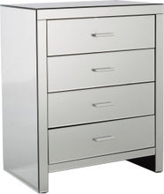 Mirrored chest of drawers | Venetian mirrored 4 drawer cabinet