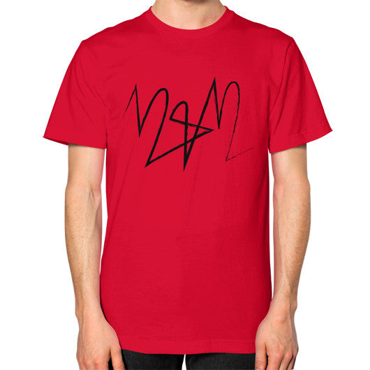 Unisex T-Shirt (on man) Red Twelve & Twelve