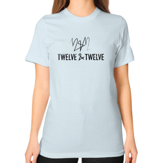 Unisex T-Shirt (on woman) Light blue Twelve & Twelve