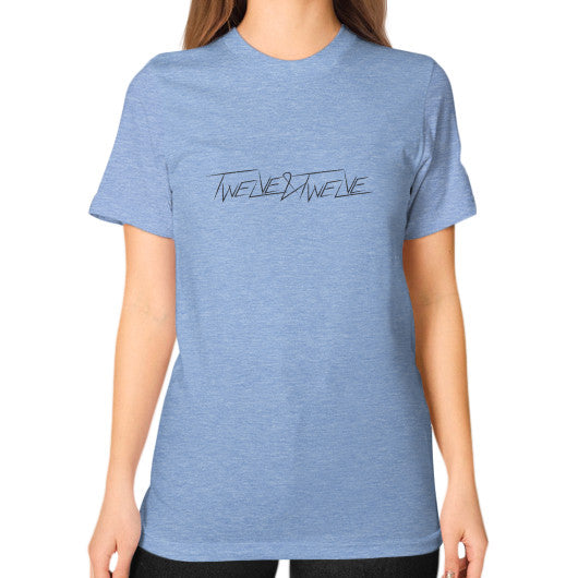Unisex T-Shirt (on woman) Tri-Blend Blue Twelve & Twelve