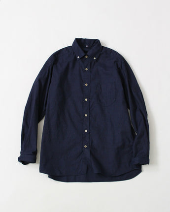 Indigo 2 Ply Oxford Shirt