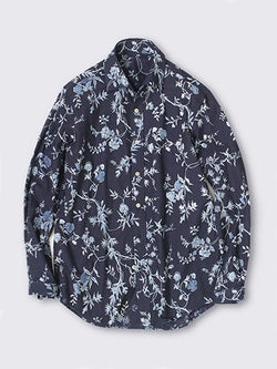 Indigo Flower Shirt