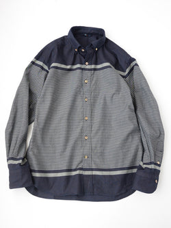 Indigo Yarn Dye Ox Basque Shirt