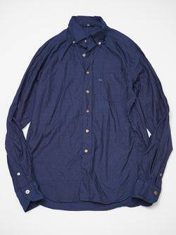 Indigo Two Ply Buttondown Shirt
