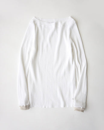 Organic Ice Cotton Rib Boat T-Shirt
