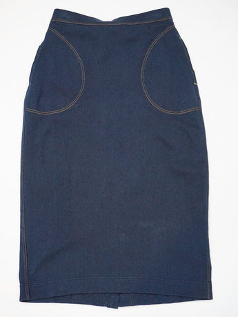 Indigo Kersey Stretch Skirt (One Wash)