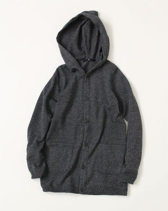 Yorimoku Lambswool Tenjiku Hooded Cardigan