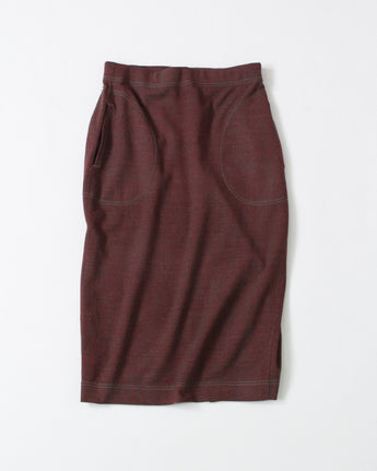 Wool Two-Way Stretch Easy Skirt