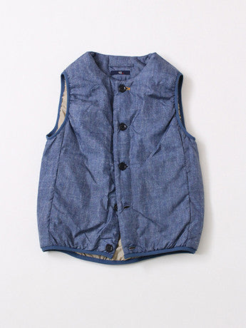 Nylon Denim Print Vest