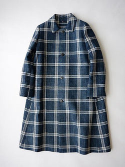 Ai Indigo Tweed Coat
