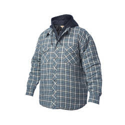 Fooler Front Quilted Hooded Flannel Jacket