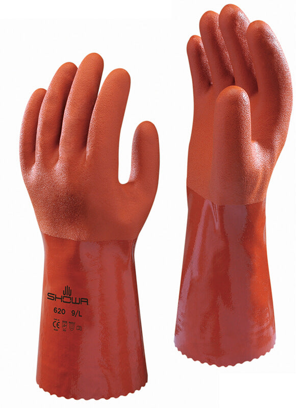 620 Showa Atlas Oil Resistant Gloves Brown