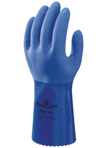 660 Showa Atlas Oil Resistant Gloves Blue