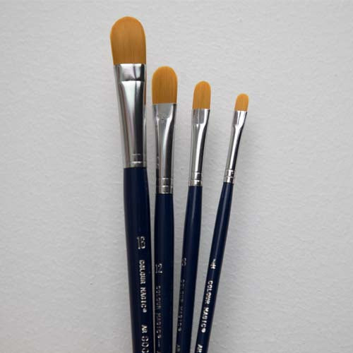 Colourmagic Taklon Filbert Short Handle Brush
