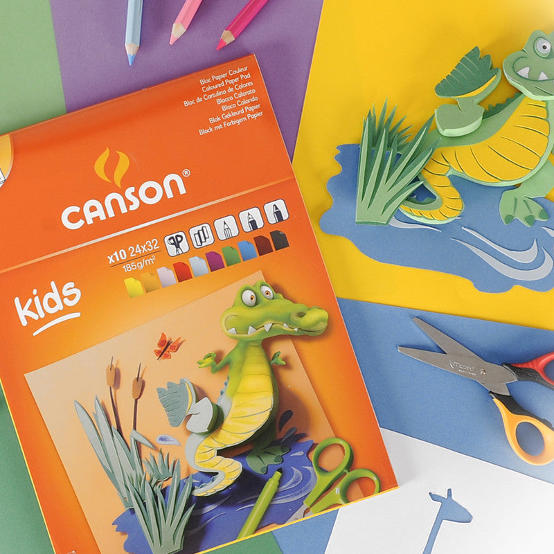 Canson® Kids Coloured Paper Pad - ArtPlus