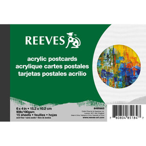 Reeves Acrylic Postcards