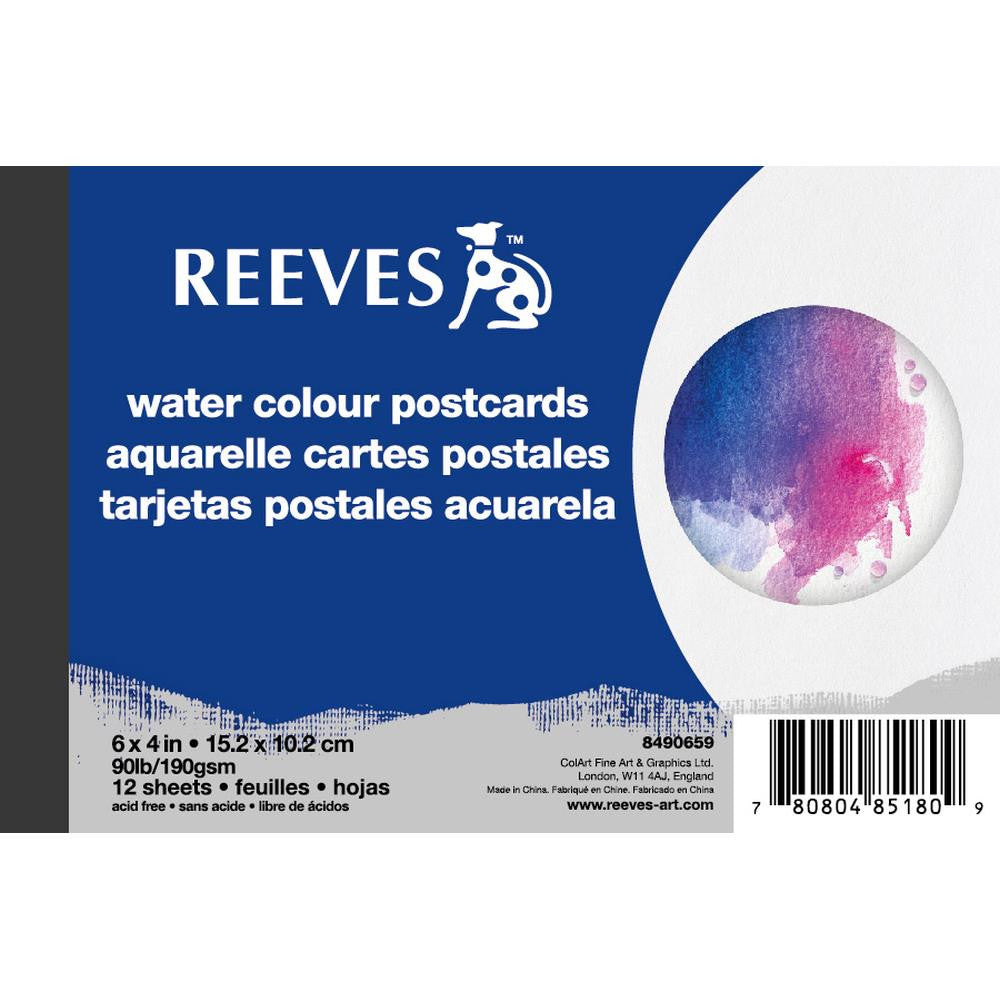 Reeves Water Colour Postcards