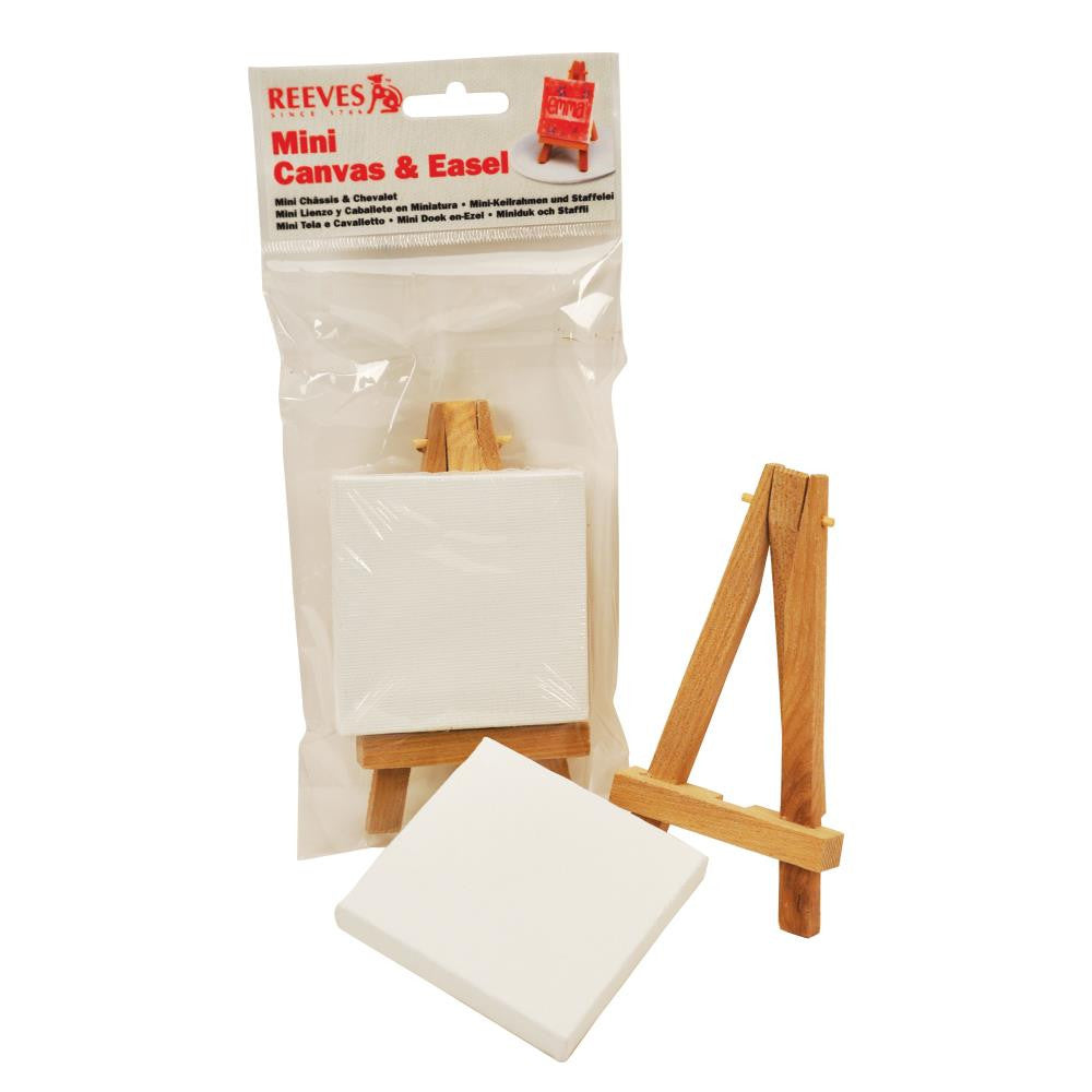 Reeves Mini Easel & Canvas Pack