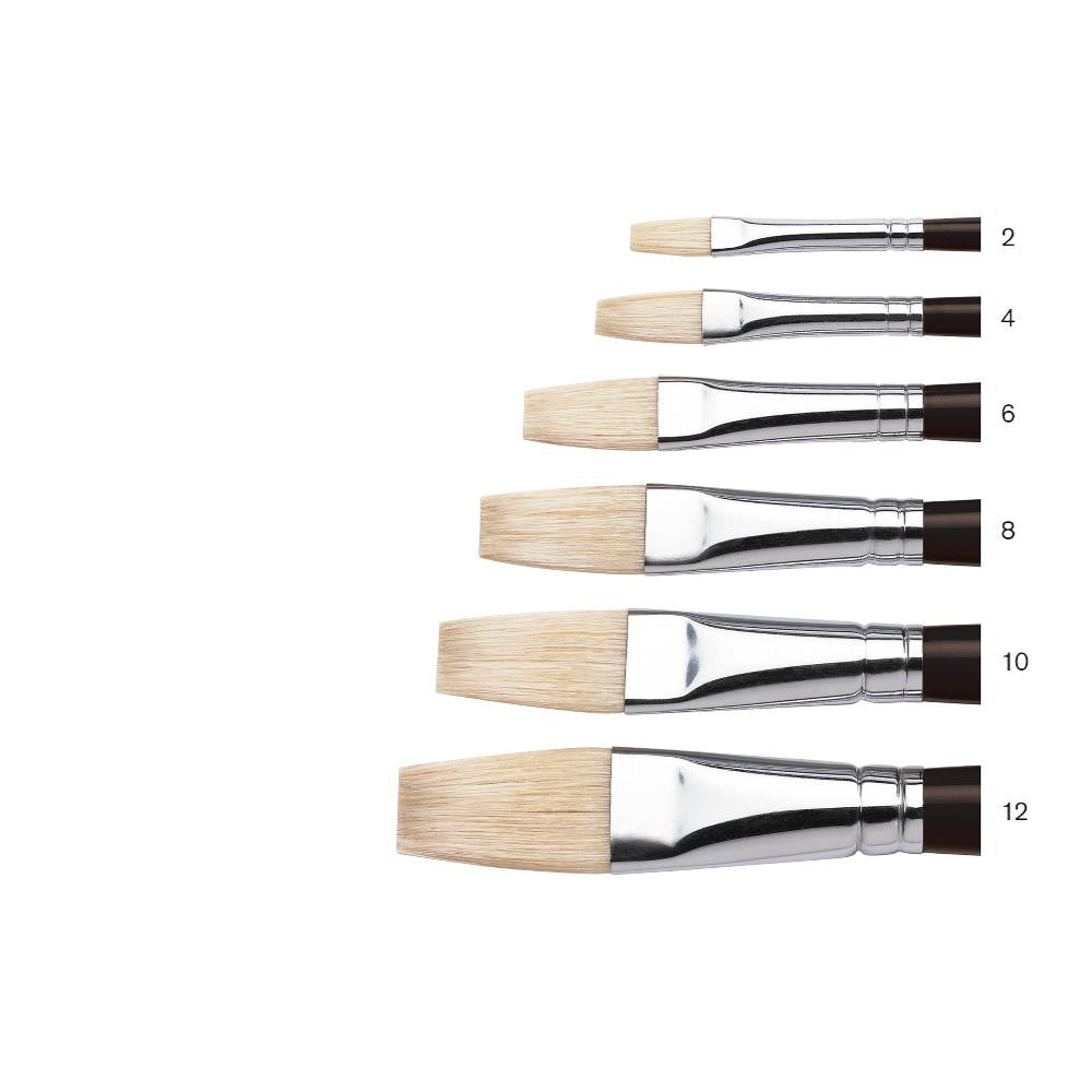 Winsor & Newton Azanta Black Brush - Long Flat - Long Handle