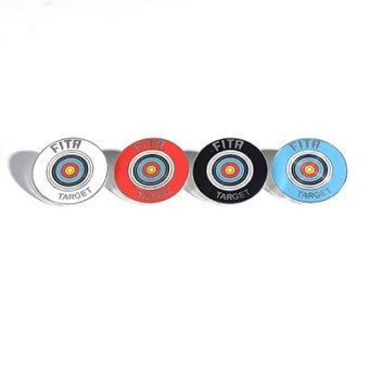 World Archery Silver Target Award Badges – Recurve