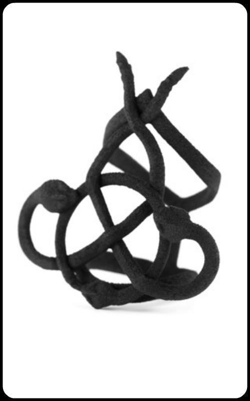 Snakebind Ring in Black - zwhart.be